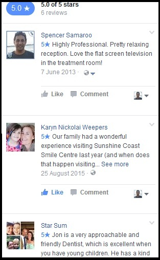 The following patient reviews have all been posted on our Facebook page.